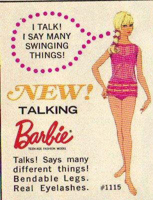 Vintage swinging barbie