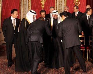 Bowing to Saudi King