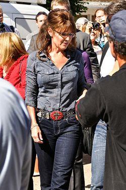 Palin in blue jeans