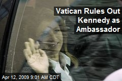 Vatican-rules-out-kennedy-as-ambassador