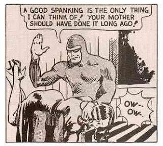 Superhero spanking